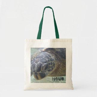 Hawaii sea turtle souvenir reusable bag