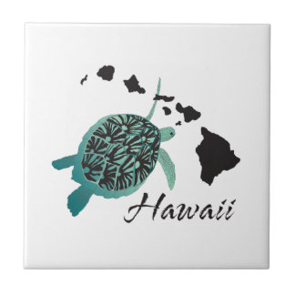Hawaii Sea Turtle Tile