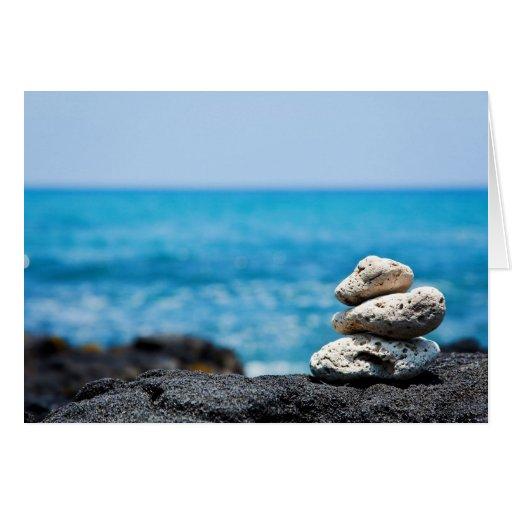 Hawaii Shoreline - White Coral, Black Lava Rocks Cards