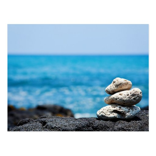 Hawaii Shoreline - White Coral, Black Lava Rocks Postcards