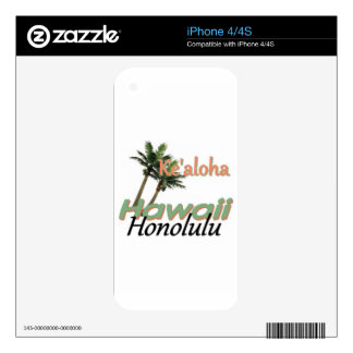 HAWAII SKIN FOR iPhone 4