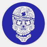 Hawaii Skull Round Sticker