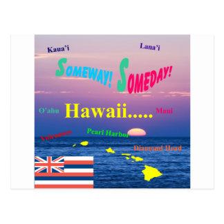 Hawaii Someway algún día Postal