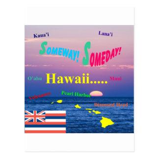 Hawaii Someway algún día Tarjeta Postal