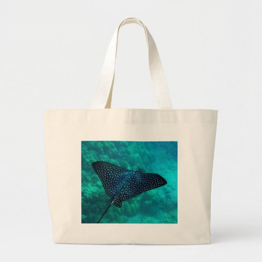 Hawaii Spotted Eagle Ray Canvas Bag