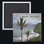 "Hawaii Square Magnet<br><div class=""desc"">Square magnet of Hawaii&#39;s Big Island</div>"