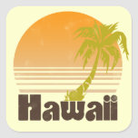 Hawaii Square Stickers