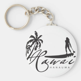 Hawaii Stand Up Paddle Keychain