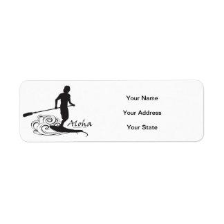 Hawaii Stand Up Paddle Return Address Label