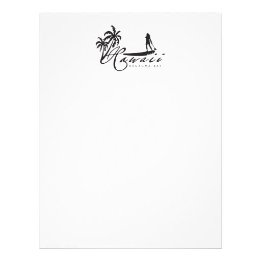 Hawaii Stand Up Paddle Personalized Letterhead