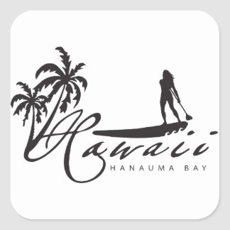Hawaii Stand Up Paddle Square Sticker