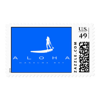Hawaii Stand Up Paddling Postage Stamps
