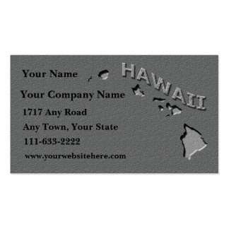 Hawaii State Business card  carved stone look