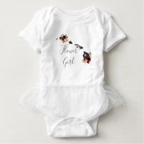 Hawaii State Destination Wedding Flower Girl Baby Bodysuit