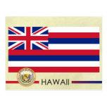 Hawaii State Flag and Seal Postcard
