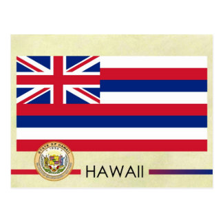 Hawaii State Flag and Seal Postcard