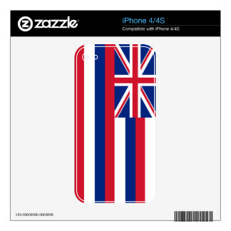 Hawaii State Flag Decal For The iPhone 4