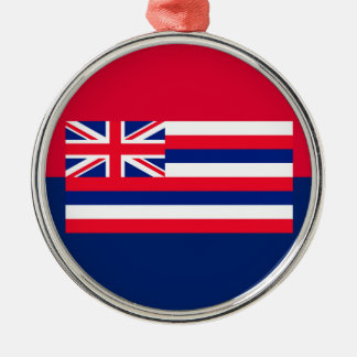 Hawaii State Flag Design Decor Metal Ornament