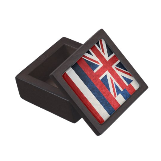 Hawaii state flag jewelry box