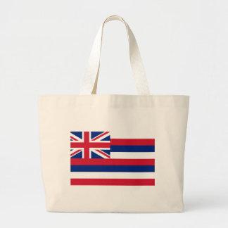 Hawaii State Flag Large Tote Bag