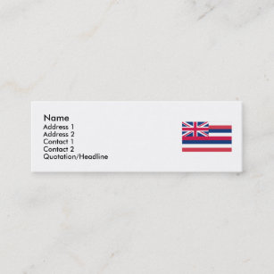 State of hawaii business cards templates zazzle hawaii state flag mini business card reheart Gallery