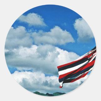 Hawaii State Flag - Oahu Sticker