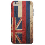 Hawaii State Flag on Old Wood Grain Tough iPhone 6 Plus Case