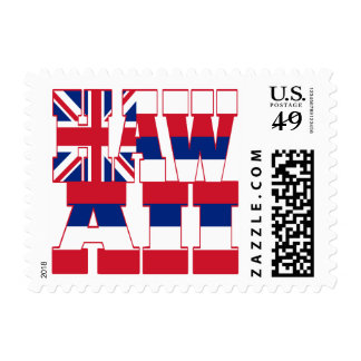 Hawaii state flag text postage
