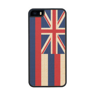 Hawaii State Flag Wood Phone Case For iPhone SE/5/5s