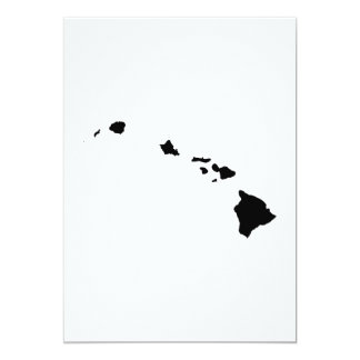 Hawaii State Outline Card