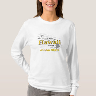 Hawaii State Pride Map Silhouette T-Shirt