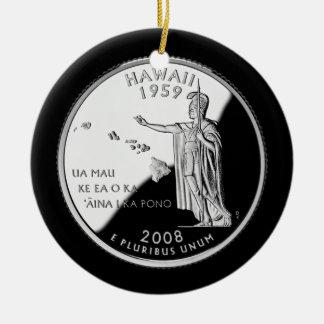 Hawaii State Quarter Ceramic Ornament
