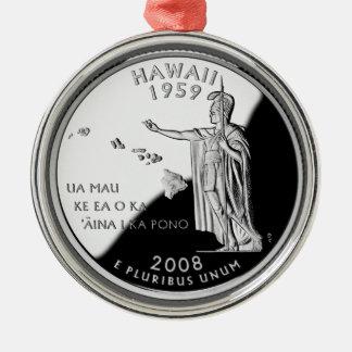Hawaii State Quarter Metal Ornament