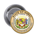 Hawaii State Seal 2 Inch Round Button