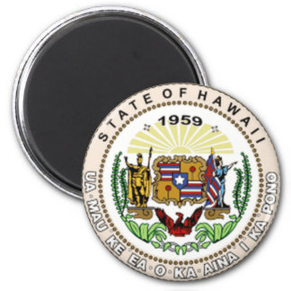 Hawaii State Seal 2 Inch Round Magnet