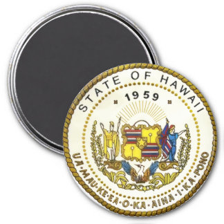 Hawaii State Seal 3 Inch Round Magnet