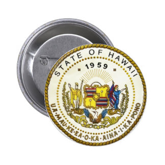 Hawaii State Seal Button