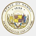 Hawaii State Seal Classic Round Sticker