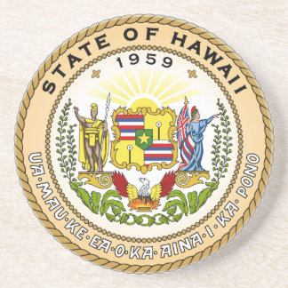 Hawaii State Seal Drink Coaster