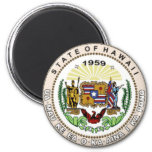 Hawaii State Seal Refrigerator Magnet