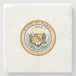 Hawaii State Seal Stone Beverage Coaster