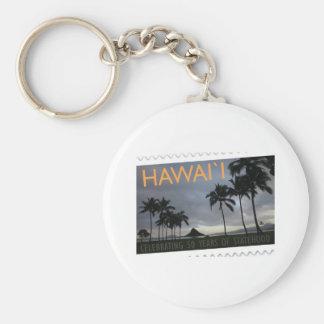 Hawaii Statehood 50th anniversary Keychain