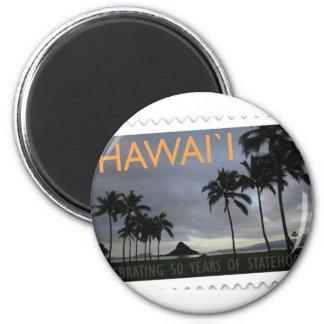 Hawaii Statehood 50th anniversary 2 Inch Round Magnet