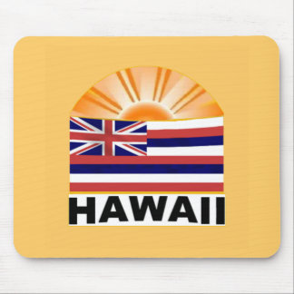 Hawaii Sunburst Mouse Pads
