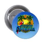 Hawaii Sunset 2 Inch Round Button