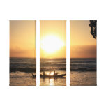 Hawaii Sunset 3 Piece Canvas Print