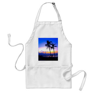 hawaii sunset beach peace adult apron