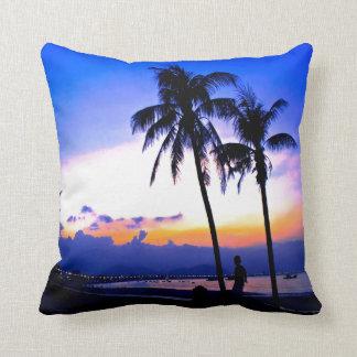 hawaii sunset beach peace pillow