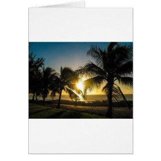 Hawaii Sunset Card