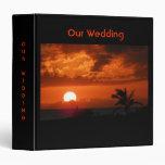 Hawaii Sunset Our Wedding Binder